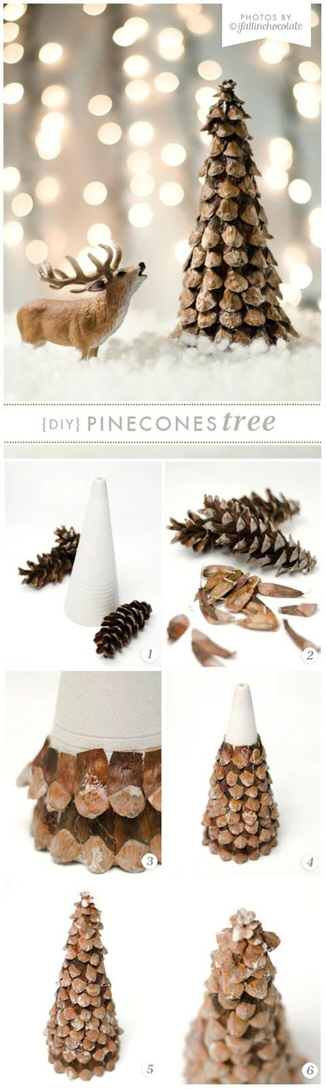Pinecone Pieces Form Woodsy Pinecone Tree