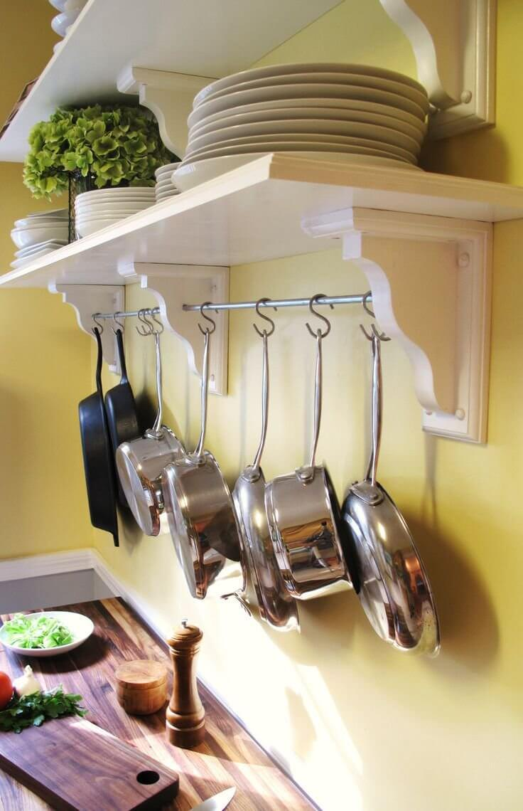 Pot Hanging Rail With S-Hooks