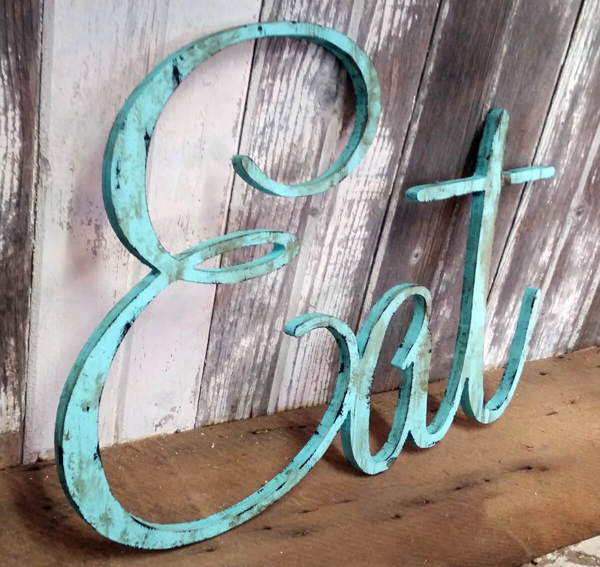 """Eat"" Vintage Metal Wall Sign"