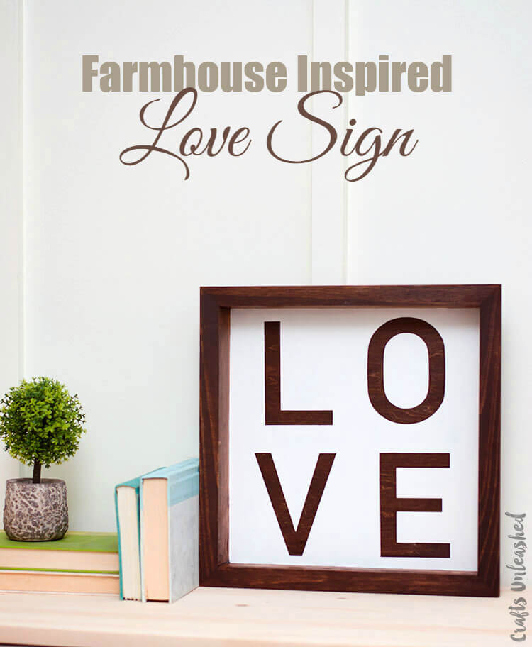 Farmhouse Wood Love Shadow Box