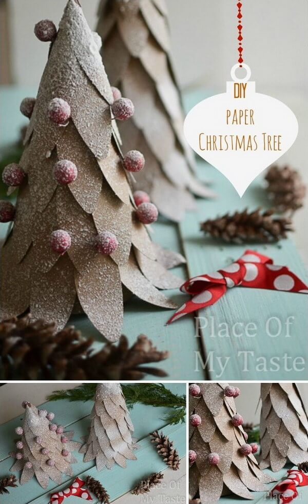 DIY Mini Paper Christmas Tree