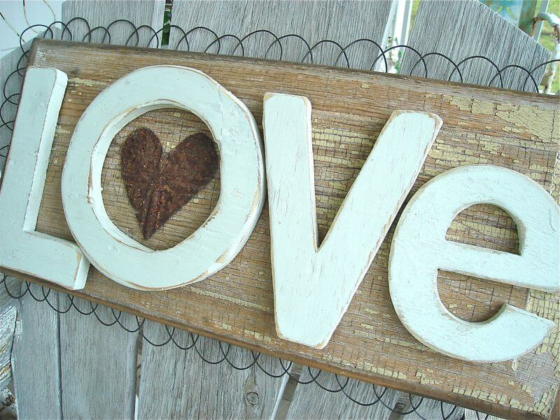 Dimensional Rustic LOVE Wood Signs