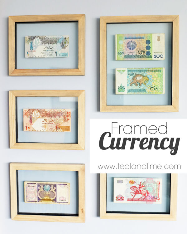 Easy Floating Framed Currency