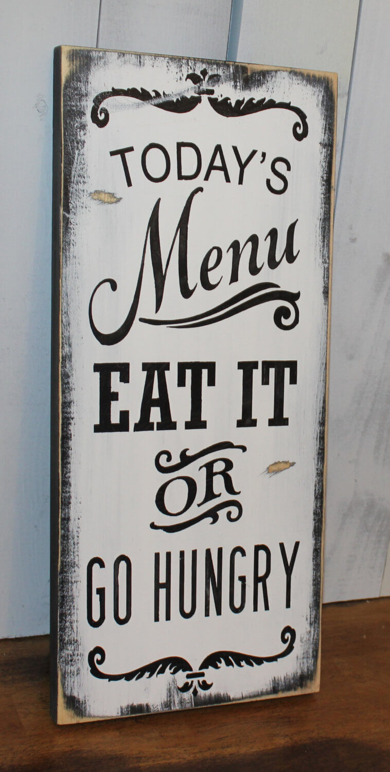 cheeky todays menu kitchen wall art - Kitchen Wall Art