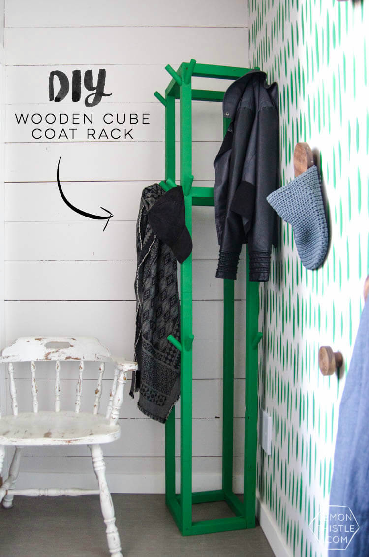 Floor to Ceiling Open Cube Coat Rack