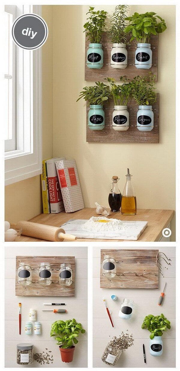 Diy Mason Jar E Garden Wall Decor