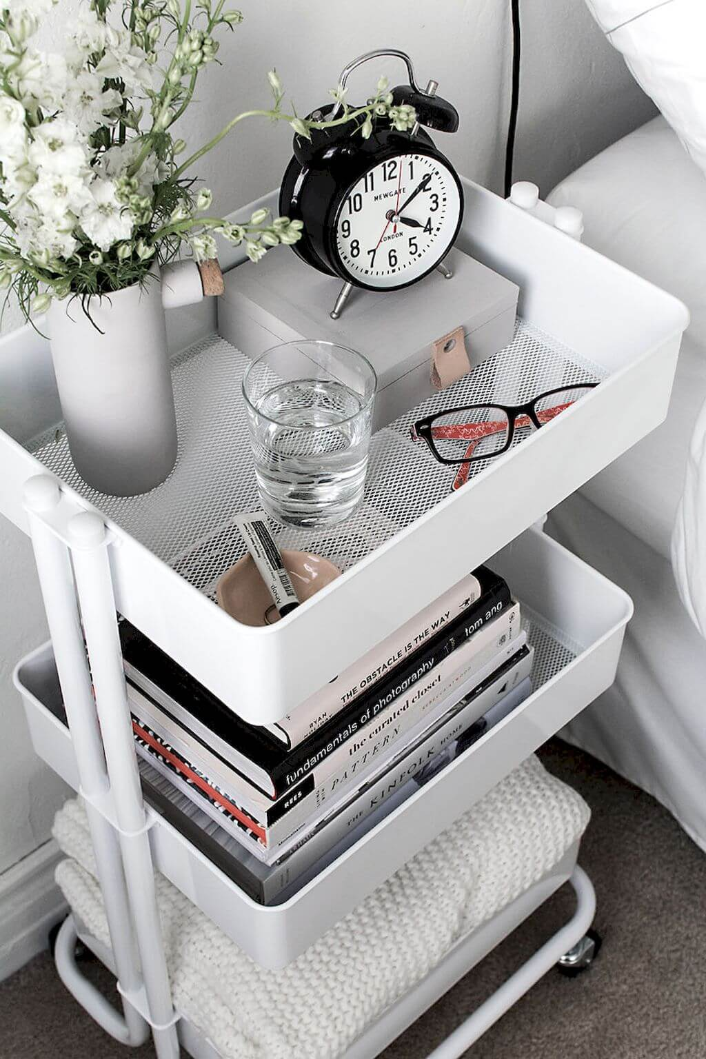 Three-tiered Basket Nightstand
