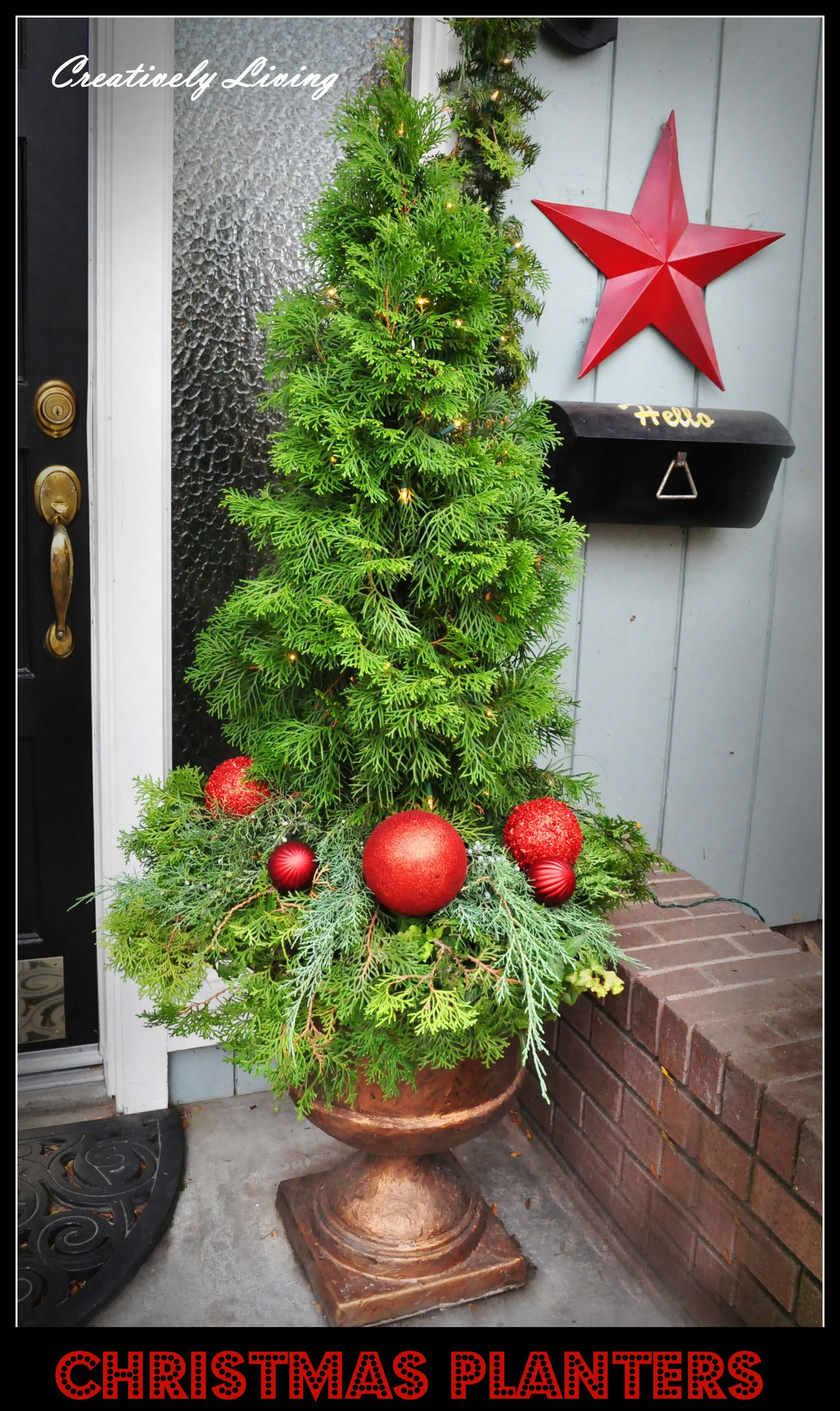 Christmas Tree with Ornaments Planter