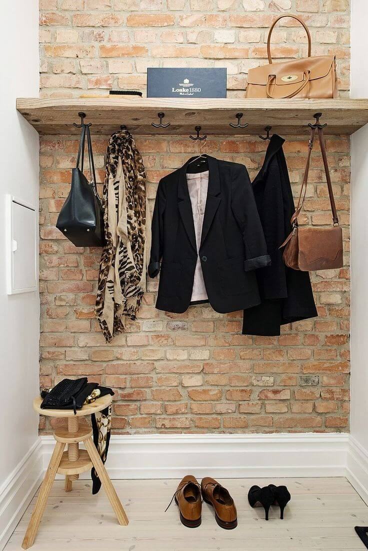 Marvelous Coat Hook Ideas Part - 13: 21. High-End Retail Worthy Clothing Display