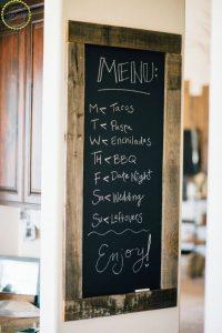 Diy Chalkboard Dinner Menu Project Homebnc