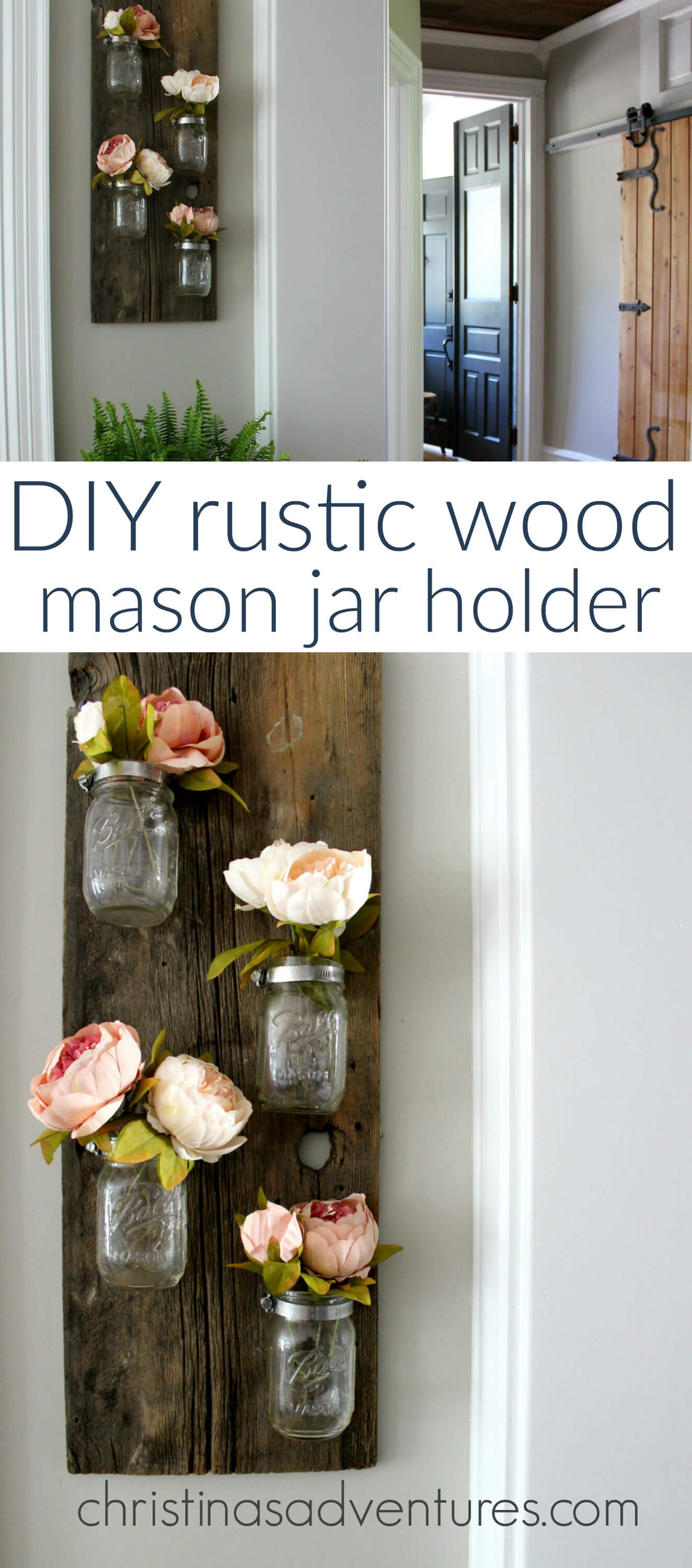 Rustic Vertical Vase Mason Jar Wall Art & Rustic Vertical Vase Mason Jar Wall Art u2014 Homebnc
