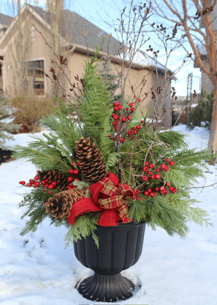 35 Best Outdoor Holiday Planter Ideas And Designs For 2019