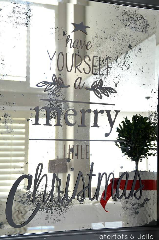 Mirror Art With Christmas Message