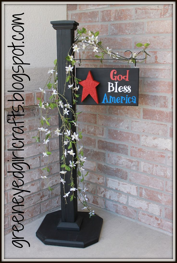 Patriotic Front Porch Welcome Sign — Homebnc
