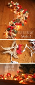 easy lighted burlap christmas garland - Burlap Christmas Garland