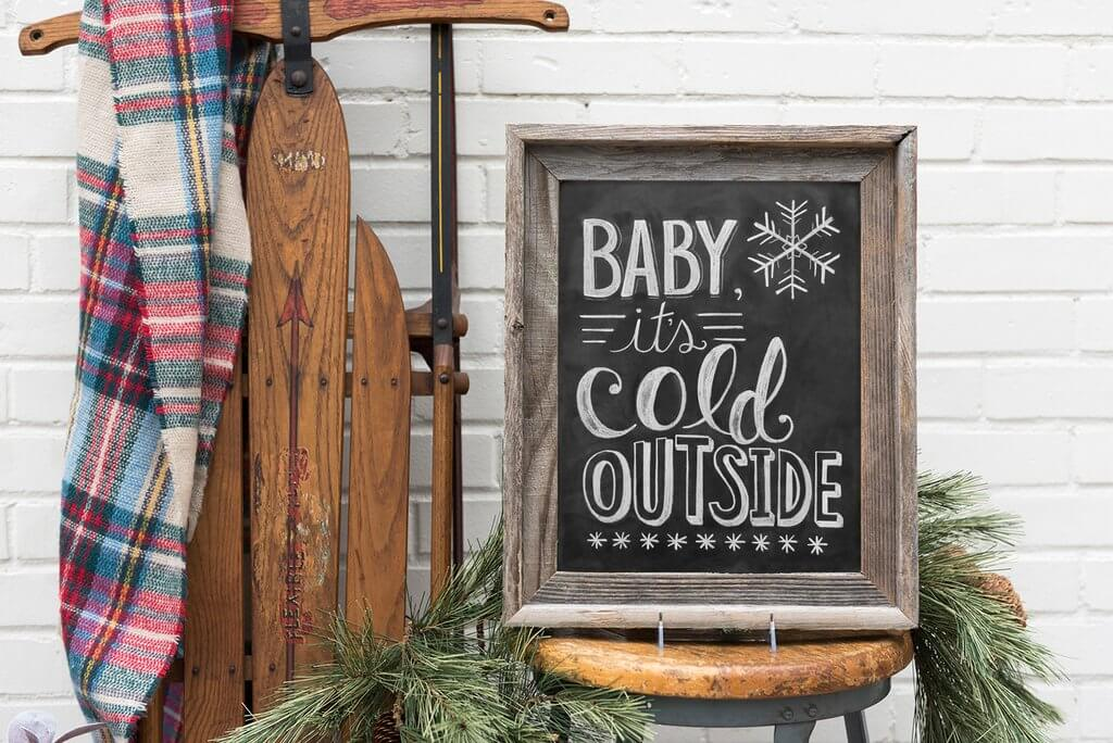 Framed Indoor/Outdoor Chalkboard Project