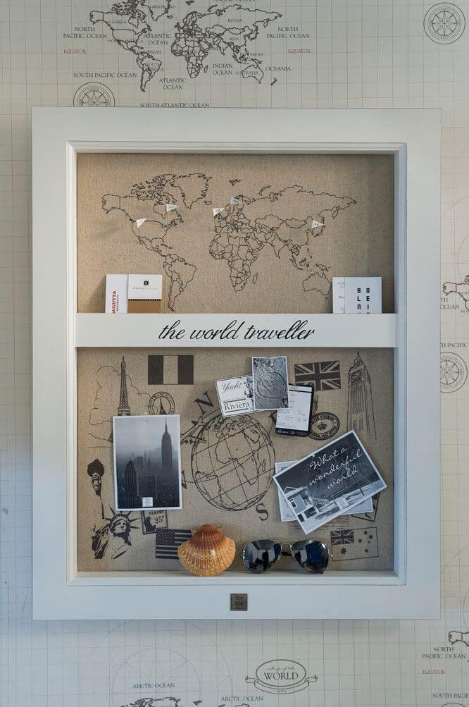 World Traveler Memento Shadow Box