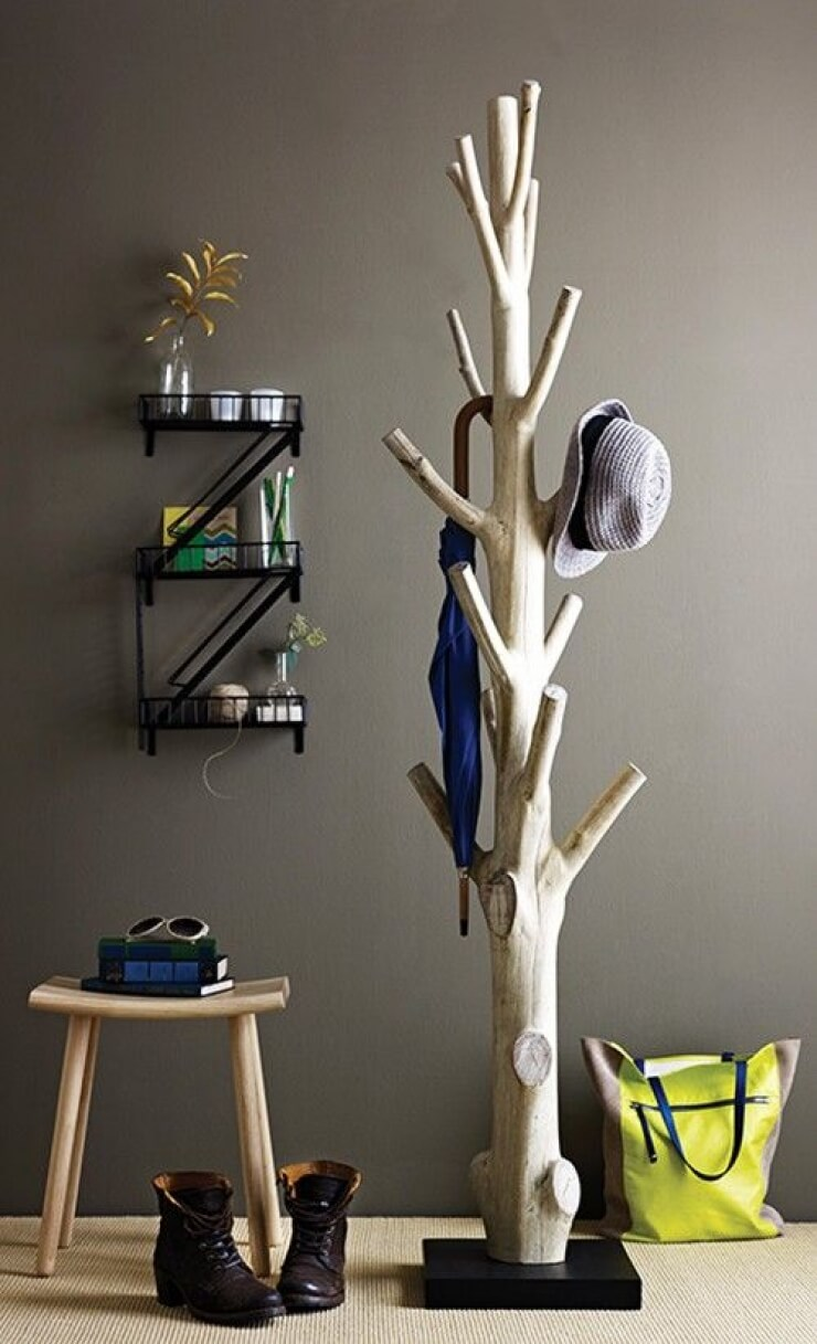 Awesome Naturalistic Real Tree Coat Rack