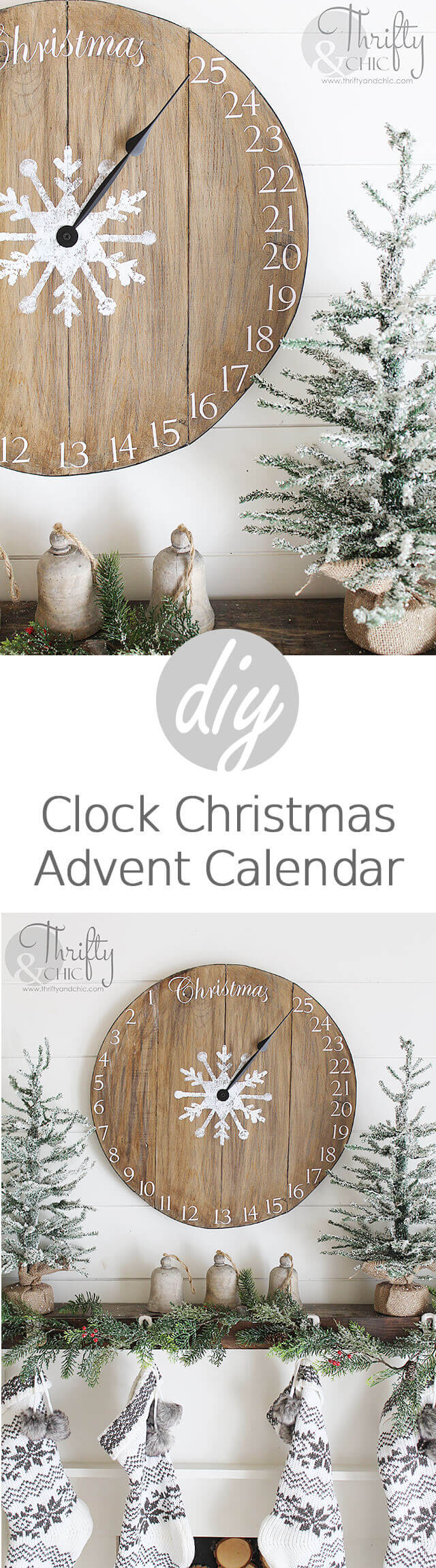 DIY Christmas Clock Advent Calendar