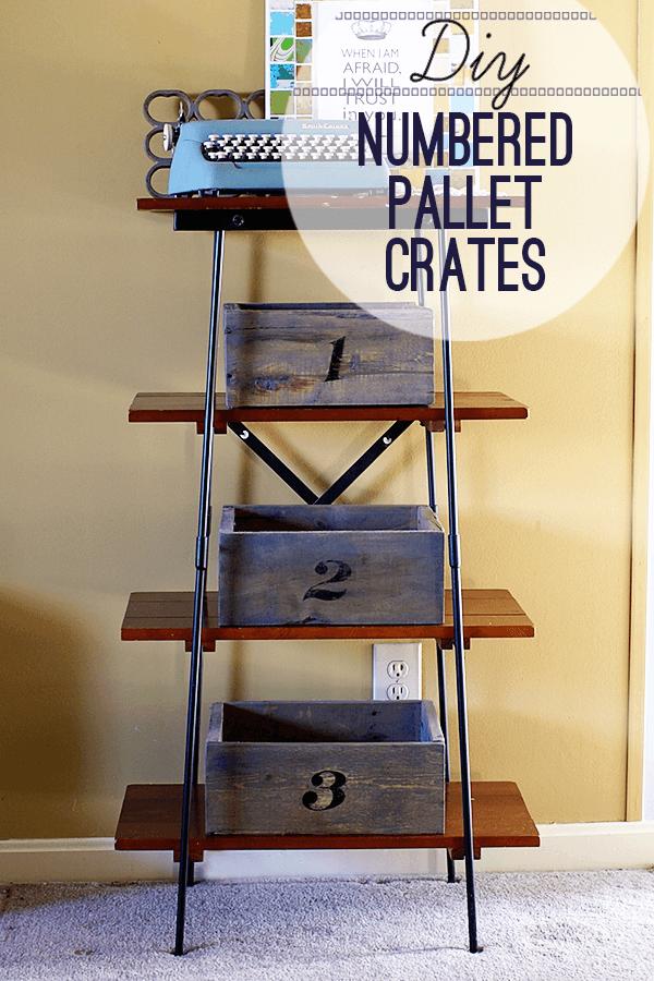 Rustic Numbered Pallet Organizer Crates