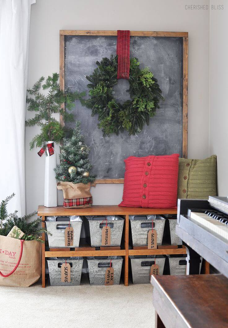 Rustic Evergreen Christmas Decor Inspiration