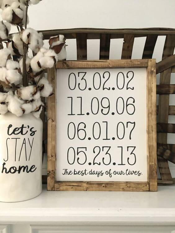 Rustic Wood Frames Dates to Remember