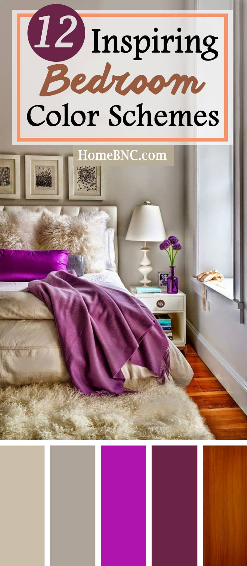 12 best bedroom color scheme ideas and designs for 2018 for Bedroom inspiration color palette
