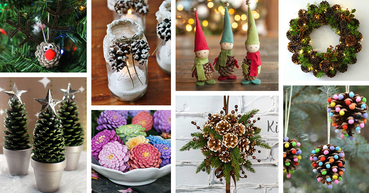 25 best diy pine cone crafts ideas and designs for 2018 - Pine Cone Christmas Tree Decorations