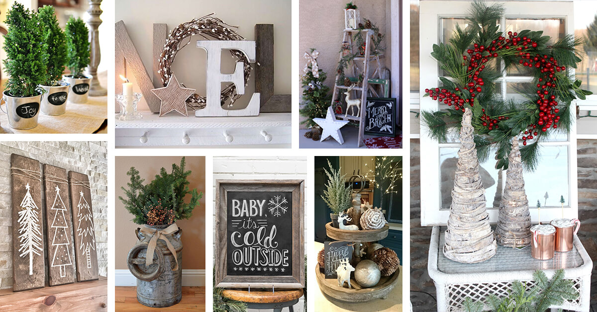 38 best rustic farmhouse christmas decor ideas and designs for 2018 - Farmhouse Christmas Decor