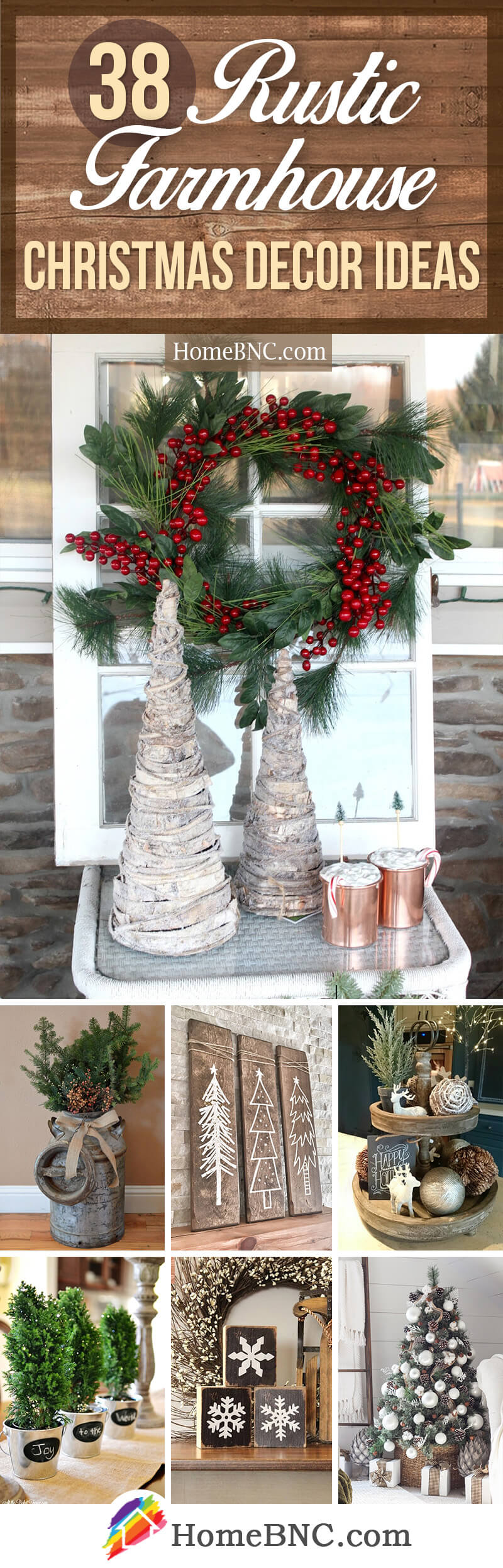 38 fabulous rustic farmhouse christmas decor ideas to festive up your home - Farmhouse Christmas Decor