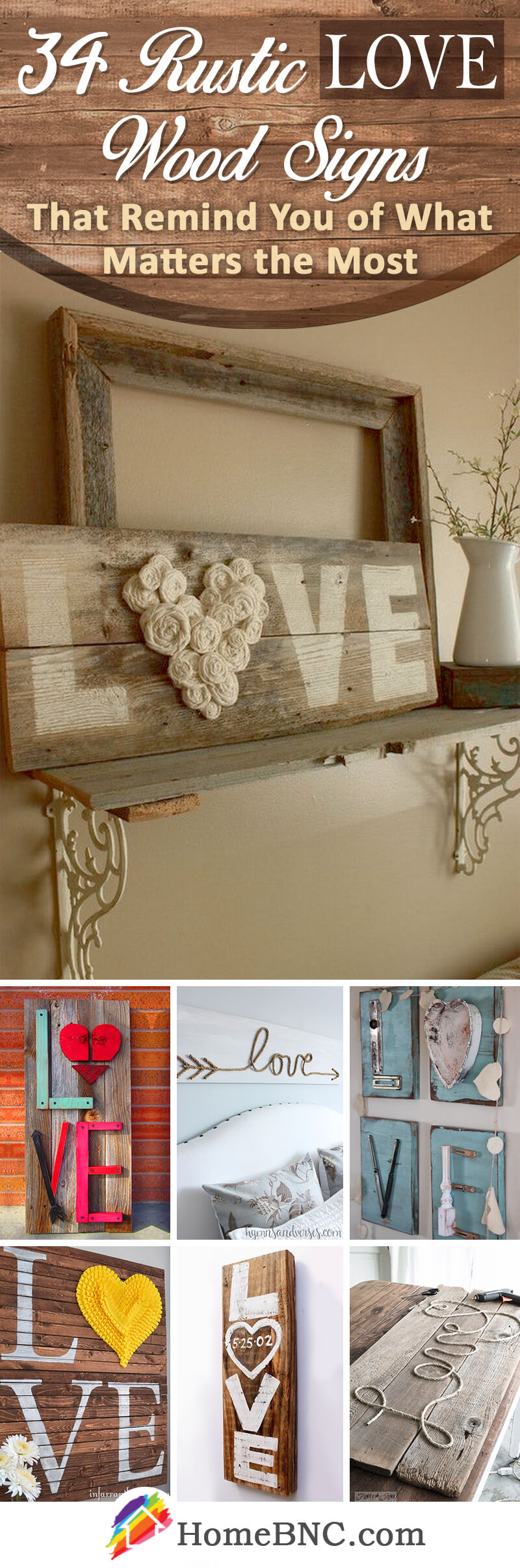 Rustic Love Wood Sign Ideas
