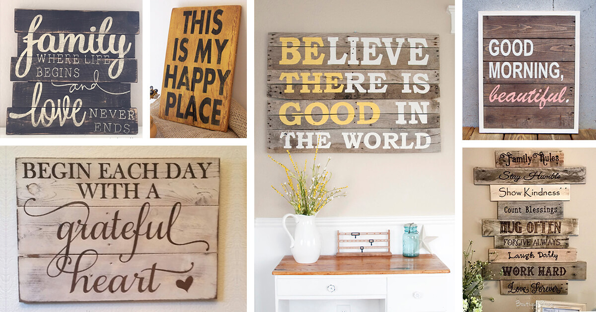 26 best rustic wood sign ideas and designs with inspirational quotes for 2018 - Wood Sign Design Ideas
