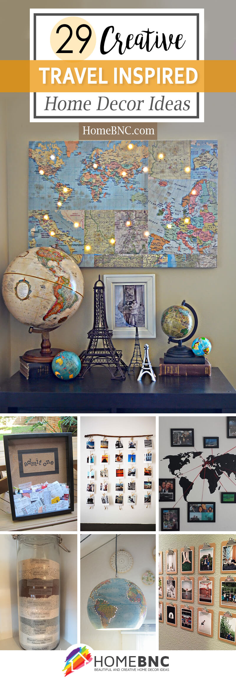 7 Best Travel Inspired Home Decor Ideas and Designs for 7