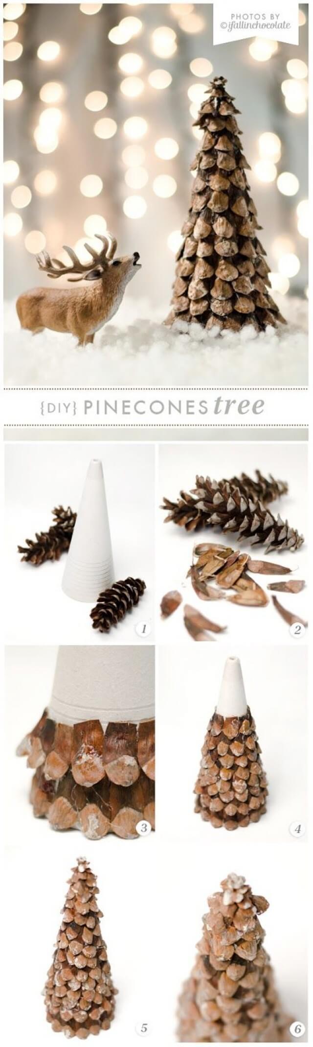 Cute DIY Pine Cones Tree