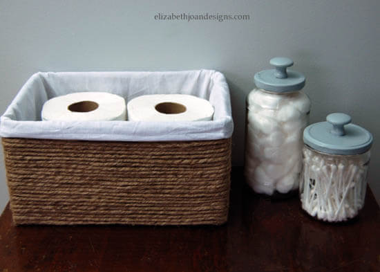 Creative Bathroom Basket from a Simple Box