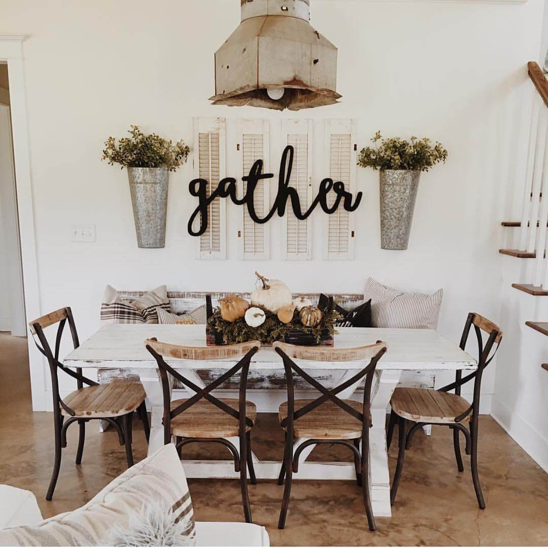 Home Decor Ideas For Walls Part - 22: Gather With Galvanized Steel Planters. Source: Instagram.com. This Rustic Wall  Decoration ...