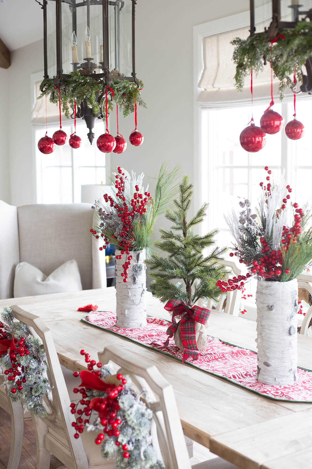 1 berries galore and ornament chandeliers - Different Christmas Decorations Ideas