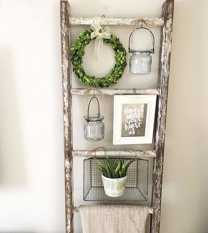 Shabby Chic Hanging Plant Display