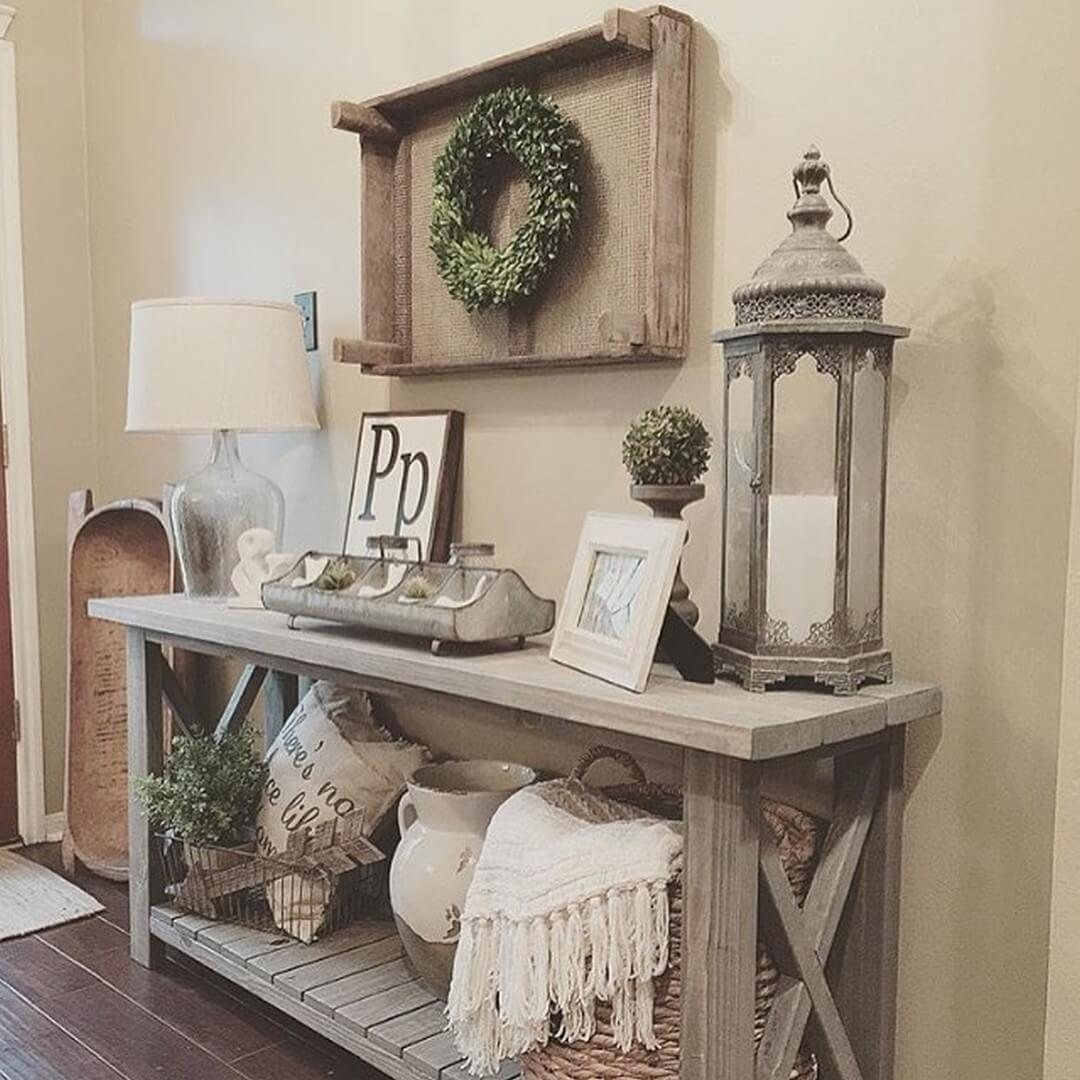 Country Cottage Inspired Entryway Design   Rustic Home Interior Design