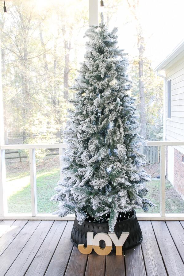 Fabulous and Festive Flocked Fir Artificial Tree