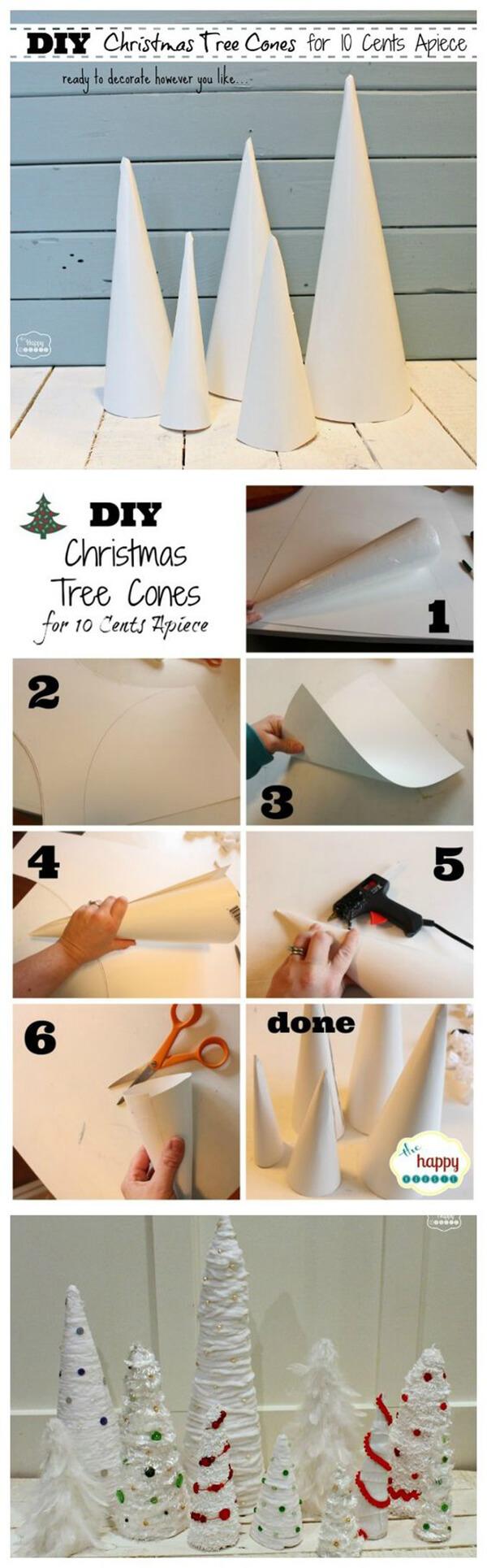 Easy 10-Cent DIY Christmas Trees
