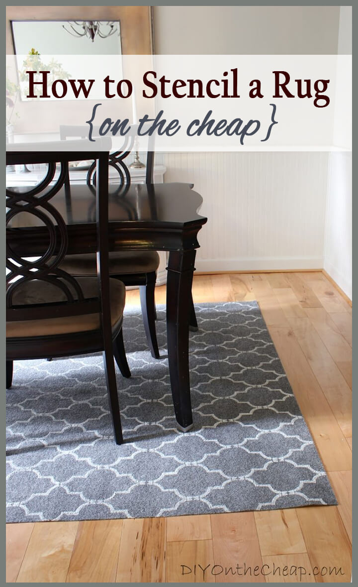 How to Transform a Cheap Rug