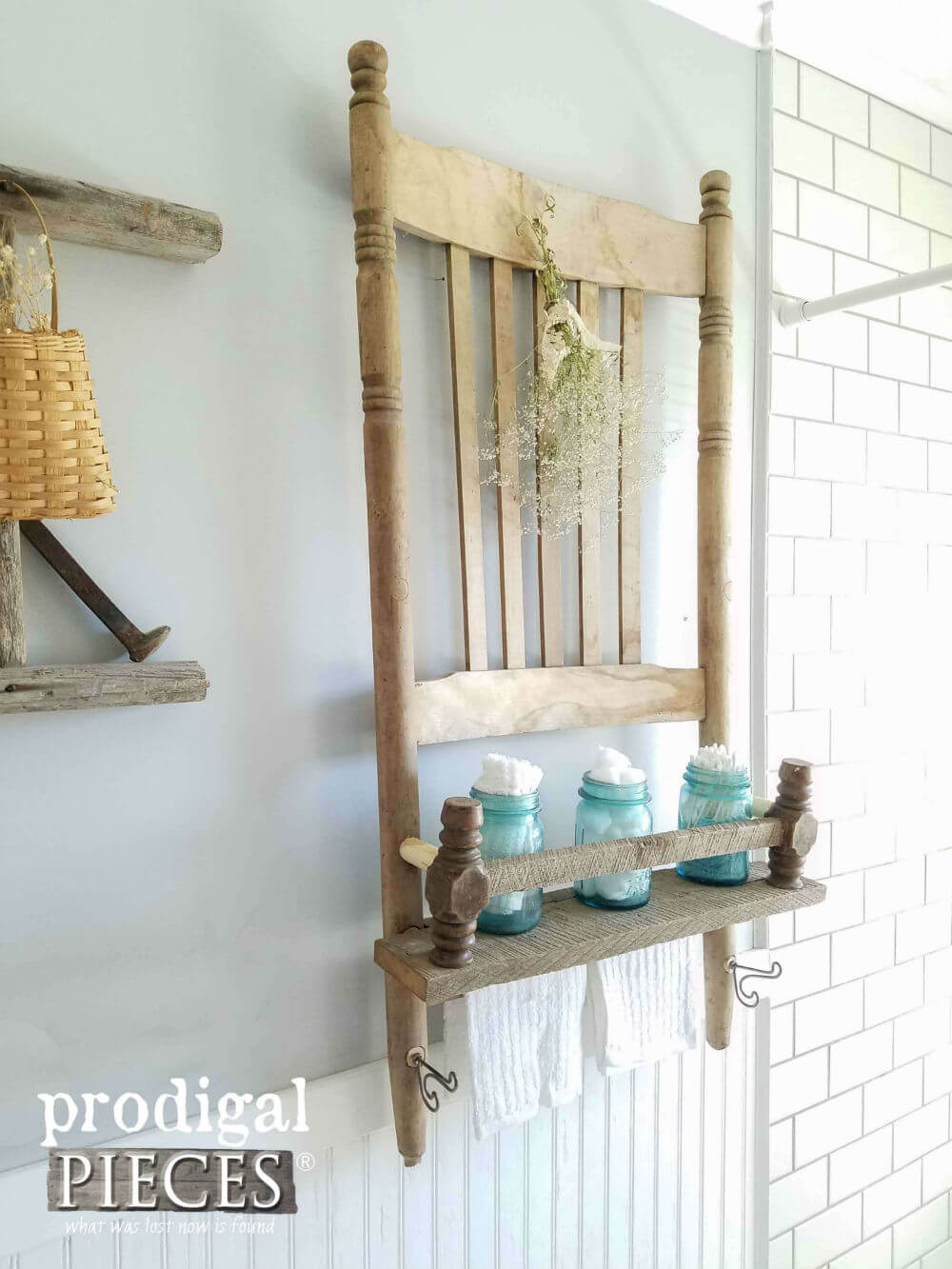 Lovely Upcycled DIY Chair for Your Bathroom
