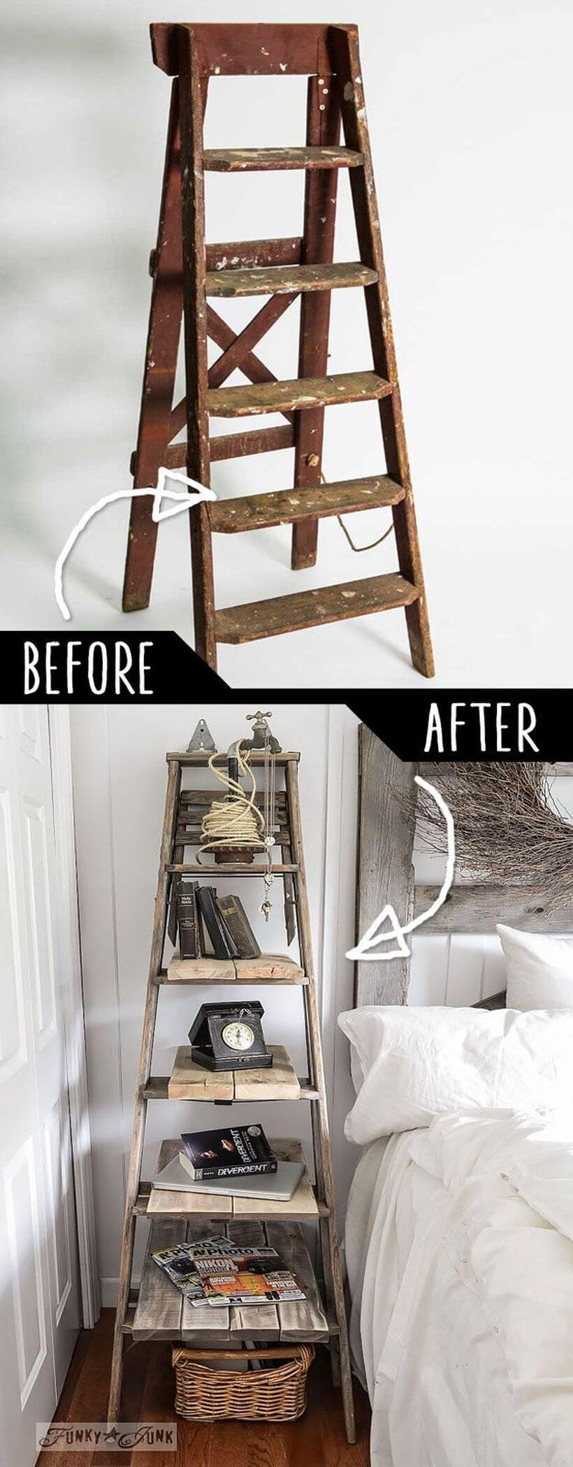 36 Best Repurposed Old Ladder Ideas And Designs For 2019