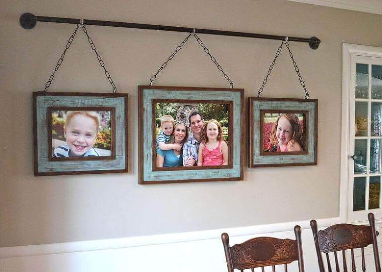Distressed Milk Paint Picture-Hanging Rod