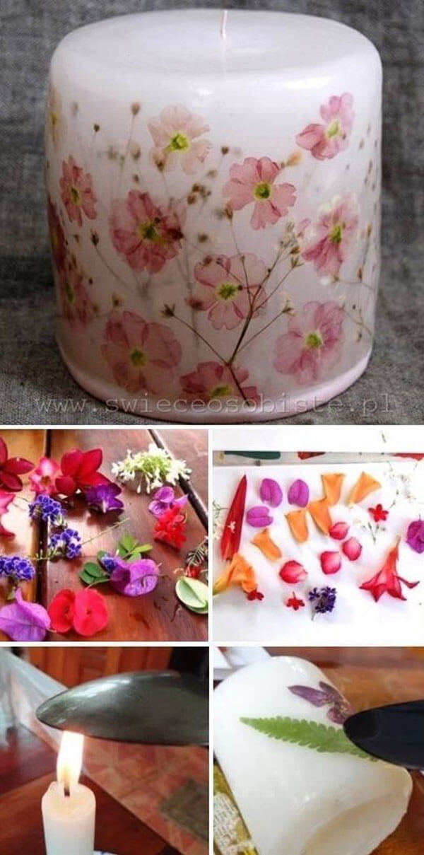 Delicate Floral Designs Enhance Any Candle