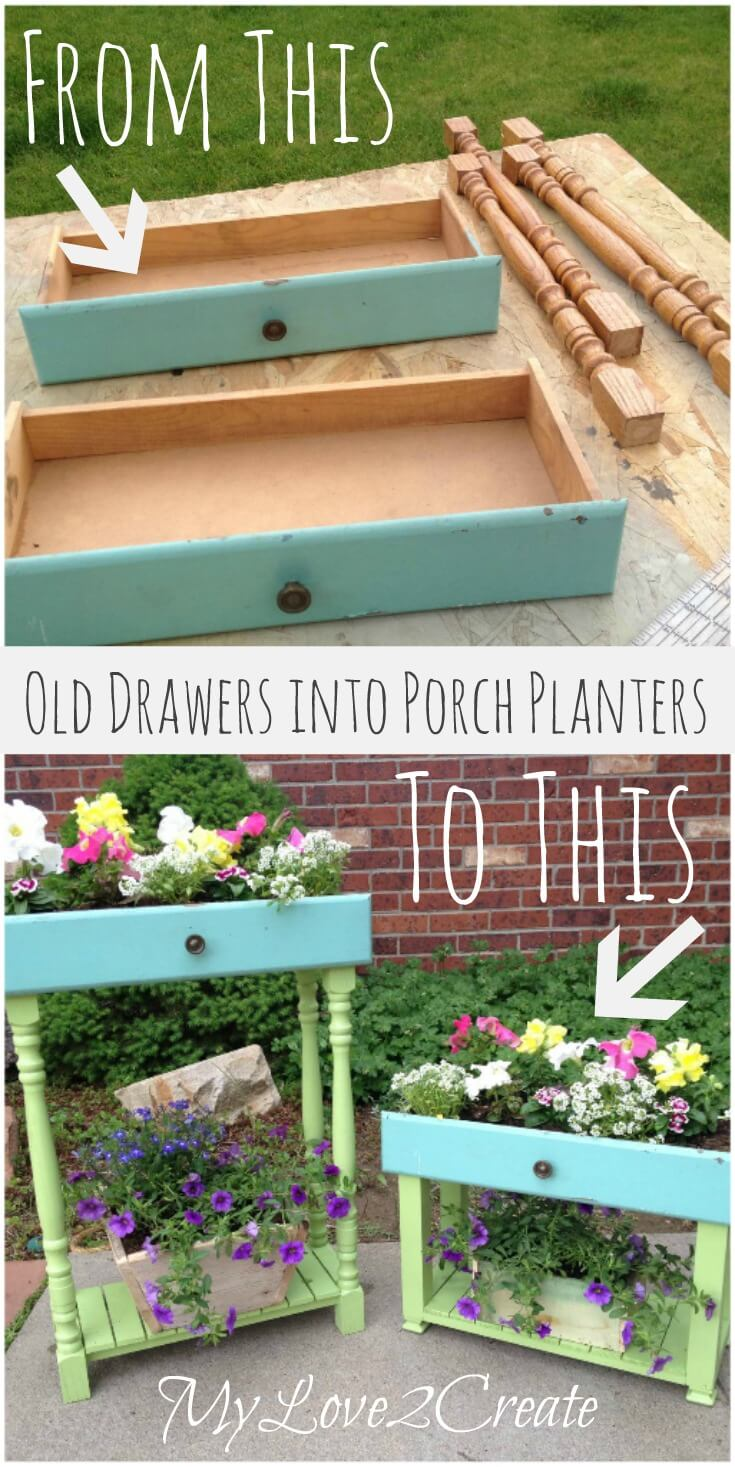 Flowering Drawers Porch and Garden Planters