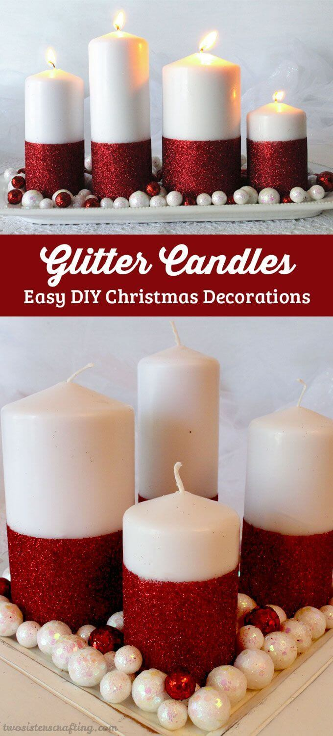 Uncategorized Candle Decorate 32 best decorated candle ideas and designs for 2017 glitter candles add extra sparkle to decor