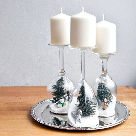 DIY Dollar Store Christmas Decor Crafts with Candles