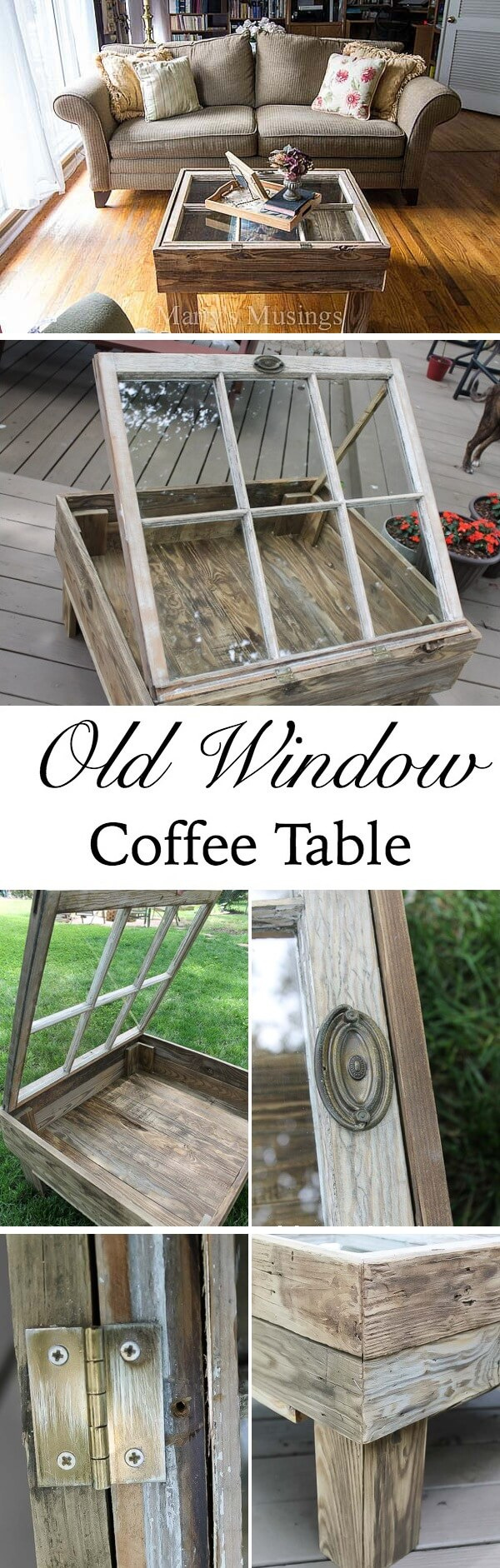 Upcycled Window Shadowbox Living Room Display